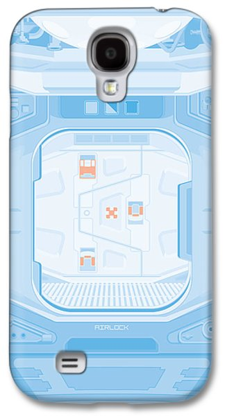 Alien Galaxy S4 Cases - Alien 1979 Poster - Airlock Galaxy S4 Case by Peter Cassidy