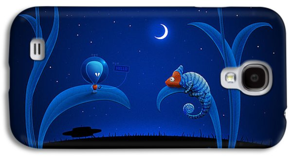 Animation Galaxy S4 Cases - Alien and Chameleon Galaxy S4 Case by Gianfranco Weiss