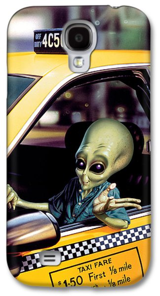 Recently Sold -  - Fantasy Photographs Galaxy S4 Cases - Alien Cab Galaxy S4 Case by Steve Read