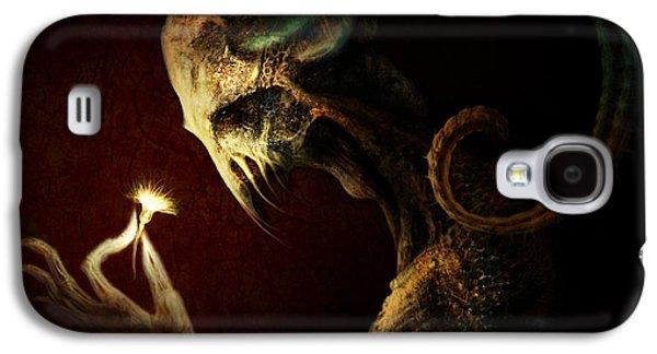 Alien Galaxy S4 Cases - Alien Flower Galaxy S4 Case by Gary Hanna