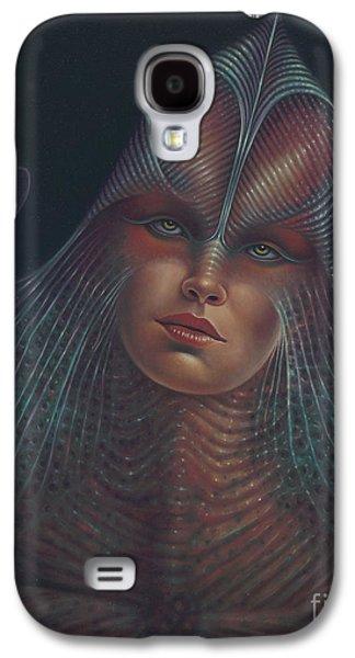 Science Fiction Paintings Galaxy S4 Cases - Alien Portrait Il Galaxy S4 Case by Ricardo Chavez-Mendez