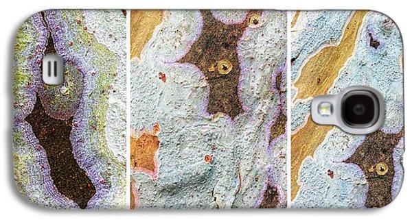 Alga Galaxy S4 Cases - Alien Triptych Landscape  Galaxy S4 Case by Rudy Umans