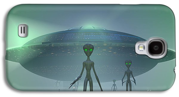 Intergalactic Space Galaxy S4 Cases - Alien Visitors Galaxy S4 Case by Carol and Mike Werner