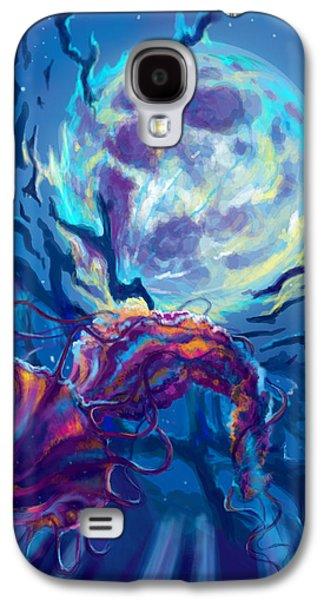Dogs Digital Art Galaxy S4 Cases - Two worlds Galaxy S4 Case by Yusniel Santos
