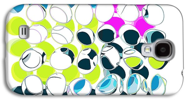 Dots Digital Art Galaxy S4 Cases - All About Dots - aad10103a Galaxy S4 Case by Variance Collections