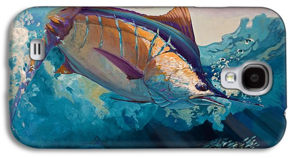 Sportfishing Galaxy S4 Cases - All Ahead Flank Galaxy S4 Case by Mike Savlen