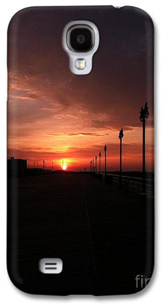 Reflection Of Sun In Clouds Galaxy S4 Cases - All Along the Boardwalk Galaxy S4 Case by John Telfer