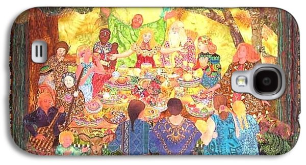 People Tapestries - Textiles Galaxy S4 Cases - All Are Welcome At Our Table Galaxy S4 Case by Carol Bridges