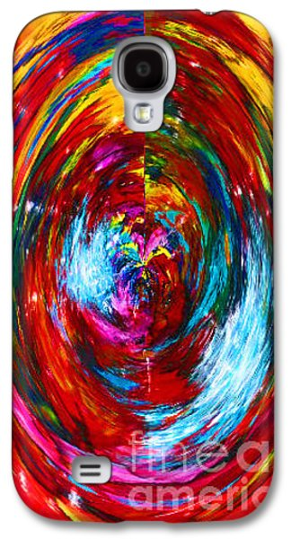 Red Abstract Ceramics Galaxy S4 Cases - All Around Galaxy S4 Case by Gabriele Mueller