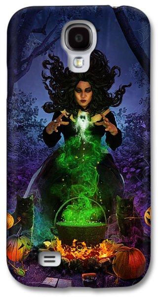 Phantasie Digital Art Galaxy S4 Cases - All Hallows Eve Galaxy S4 Case by Cassiopeia Art