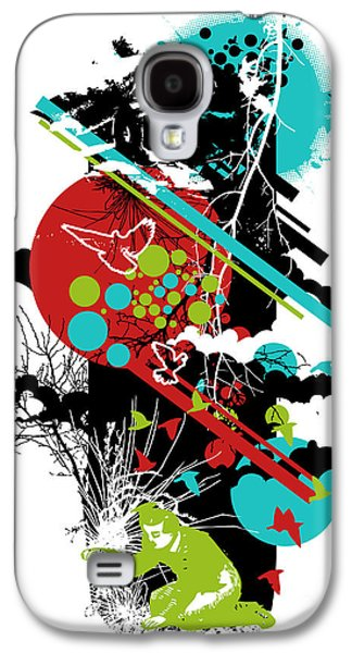 Colorful Abstract Digital Art Galaxy S4 Cases - All is vanity Galaxy S4 Case by Budi Satria Kwan
