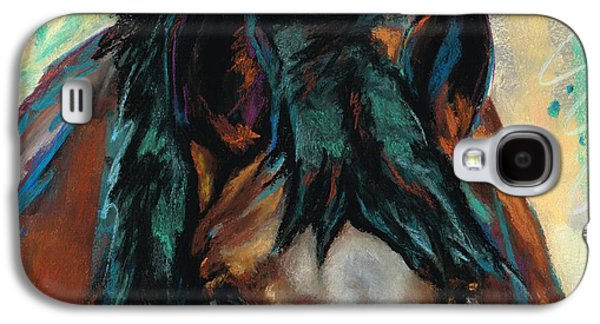 Colorful Abstract Pastels Galaxy S4 Cases - All Knowing Galaxy S4 Case by Frances Marino