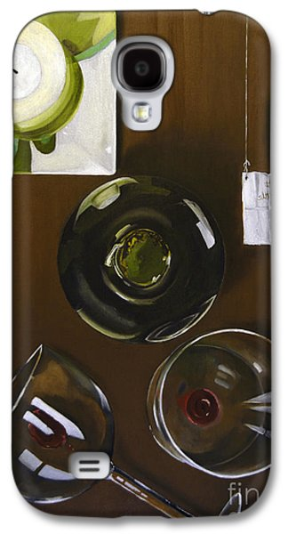 Wine Holder Galaxy S4 Cases - All Looked Fine From Our Perspective Galaxy S4 Case by James Lavott