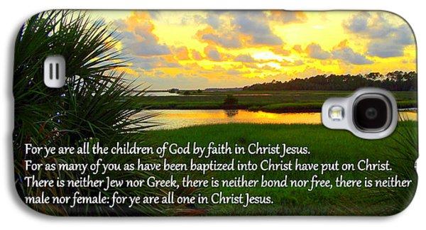 Cedar Key Galaxy S4 Cases - All One in Christ Jesus Galaxy S4 Case by Sheri McLeroy