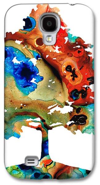 Abstract Landscape Galaxy S4 Cases - All Seasons Tree 3 - Colorful Landscape Print Galaxy S4 Case by Sharon Cummings