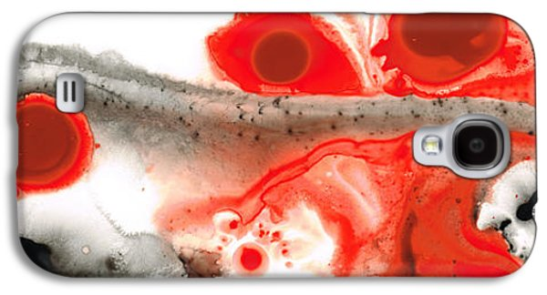 Colorful Abstract Galaxy S4 Cases - All Things Considered - Red Black And White Art Galaxy S4 Case by Sharon Cummings