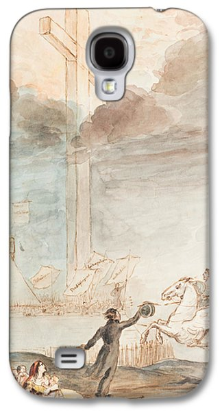 Iconography Drawings Galaxy S4 Cases - Allegory   Knowledge versus Orthodox Religion Galaxy S4 Case by Auguste Hervieu