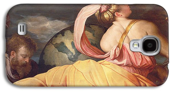 Globe Paintings Galaxy S4 Cases - Allegory of Geography Galaxy S4 Case by Giorgio Vasari