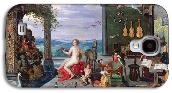 Music Score Galaxy S4 Cases - Allegory Of Music Oil On Canvas Galaxy S4 Case by Jan the Elder Brueghel