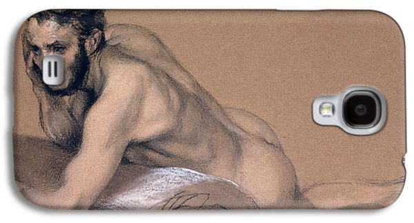 Portraits Pastels Galaxy S4 Cases - Allegory of the River Oder Galaxy S4 Case by Adolph Friedrich Erdmann von Menzel