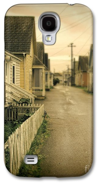 Telephone Poles Galaxy S4 Cases - Alley and Abandoned Houses Galaxy S4 Case by Jill Battaglia