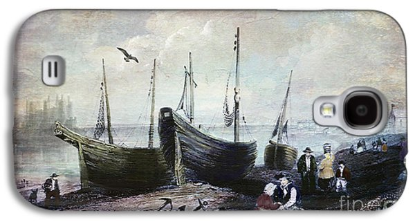 Allonby - Fishing Village 1840s Galaxy S4 Case by Lianne Schneider
