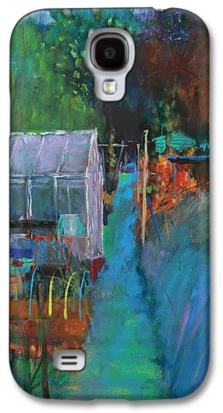 Shed Paintings Galaxy S4 Cases - Allotment Galaxy S4 Case by Marco Cazzulini