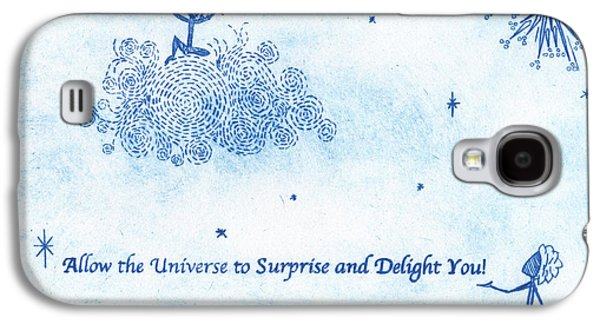 Drypoint Galaxy S4 Cases - Allow the Universe to Surprise and Delight You Galaxy S4 Case by Simone St John