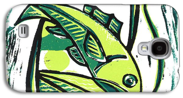 Lino Mixed Media Galaxy S4 Cases - Almost Galaxy S4 Case by Kevin Houchin