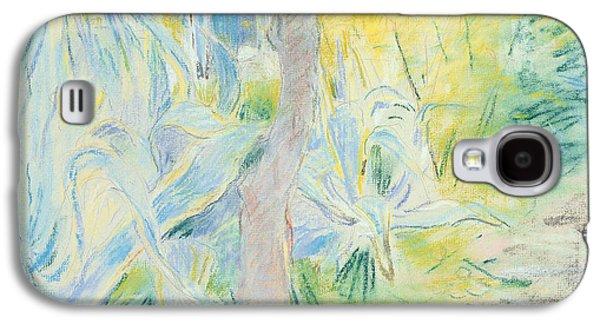 Green Pastels Galaxy S4 Cases - Aloes at Villa Ratti Galaxy S4 Case by Berthe Morisot