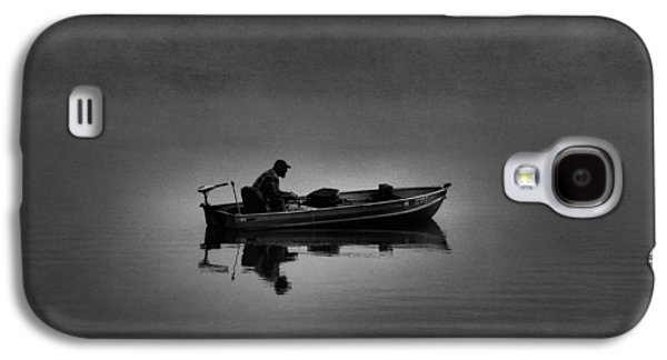 Boats On Water Galaxy S4 Cases - Alone Galaxy S4 Case by Dan Sproul