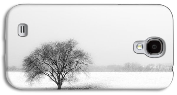 Trees In Snow Galaxy S4 Cases - Alone Galaxy S4 Case by Don Spenner