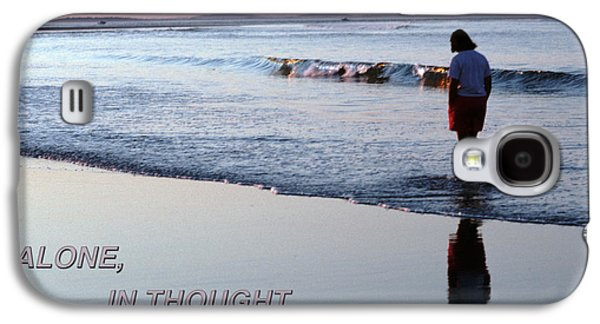 Contemplative Photographs Galaxy S4 Cases - Alone    In Thought Galaxy S4 Case by Tom Wurl