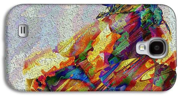 Colorful Abstract Galaxy S4 Cases - Alone Galaxy S4 Case by Kiki Art
