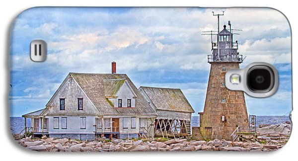 Old Maine Houses Galaxy S4 Cases - Alone on the Rocks Galaxy S4 Case by Betsy A  Cutler
