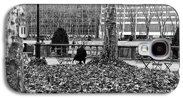 Bryant Park Galaxy S4 Cases - Alone With My Thoughts mono Galaxy S4 Case by John Rizzuto