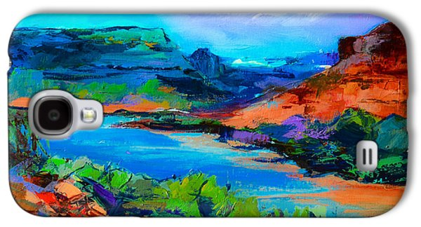 Usa Paintings Galaxy S4 Cases - Along Colorado River - Utah Galaxy S4 Case by Elise Palmigiani