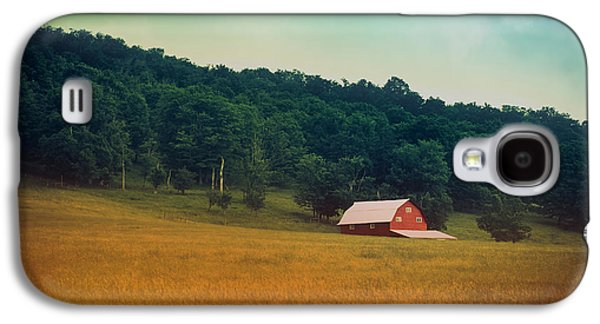 Red Barns Galaxy S4 Cases - Along A Country Road Galaxy S4 Case by Shane Holsclaw