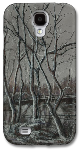 Shed Drawings Galaxy S4 Cases - Along the Greenway 2 Galaxy S4 Case by Janet Felts