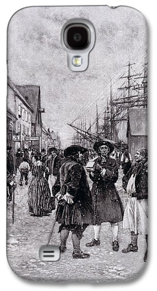 Slaves Galaxy S4 Cases - Along The Water Front In Old New York, Illustration From The Evolution Of New York By Thomas A Galaxy S4 Case by Howard Pyle