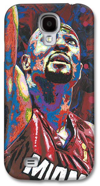 Nba Paintings Galaxy S4 Cases - Alonzo Mourning Galaxy S4 Case by Maria Arango