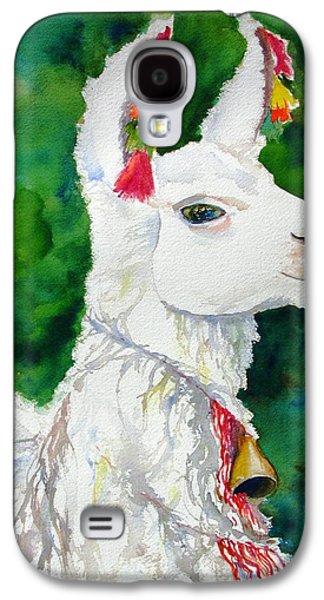 Nature Abstracts Galaxy S4 Cases - Alpaca with Attitude Galaxy S4 Case by Carlin Blahnik