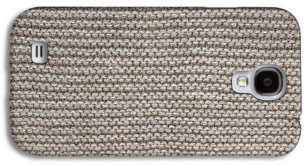 Stitch Galaxy S4 Cases - Alpaca wool knit texture Galaxy S4 Case by Elena Elisseeva