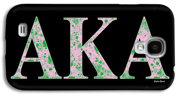 Alpha Kappa Alpha - Black Galaxy S4 Case by Stephen Younts