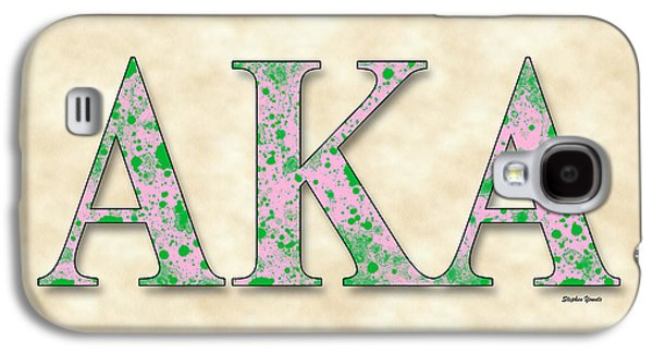 Alpha Kappa Alpha - Parchment Galaxy S4 Case by Stephen Younts