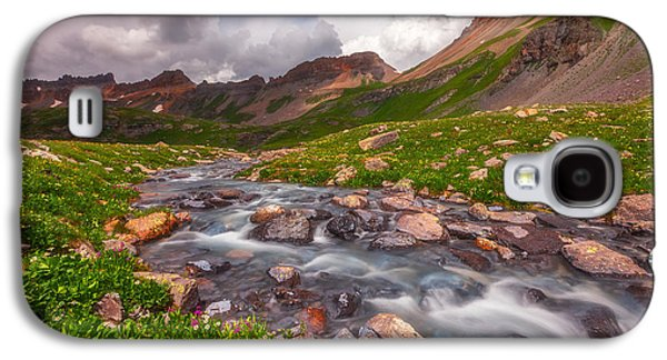Storm Prints Photographs Galaxy S4 Cases - Alpine Creek Galaxy S4 Case by Darren  White