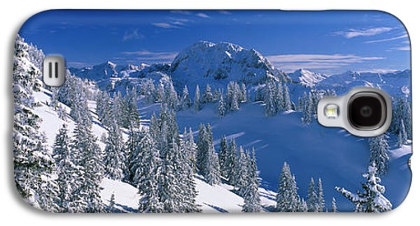 Snow Capped Galaxy S4 Cases - Alpine Scene, Bavaria, Germany Galaxy S4 Case by Panoramic Images