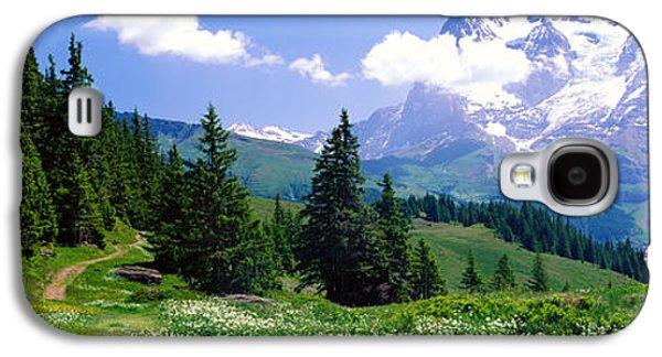 Swiss Photographs Galaxy S4 Cases - Alpine Scene Near Murren Switzerland Galaxy S4 Case by Panoramic Images