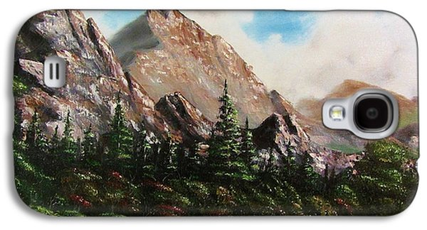 Bob Ross Paintings Galaxy S4 Cases - Alpine Vista Galaxy S4 Case by Gavin Kutil