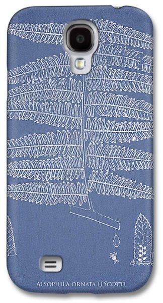 Ornamental Digital Art Galaxy S4 Cases - Alsophila ornata Galaxy S4 Case by Aged Pixel